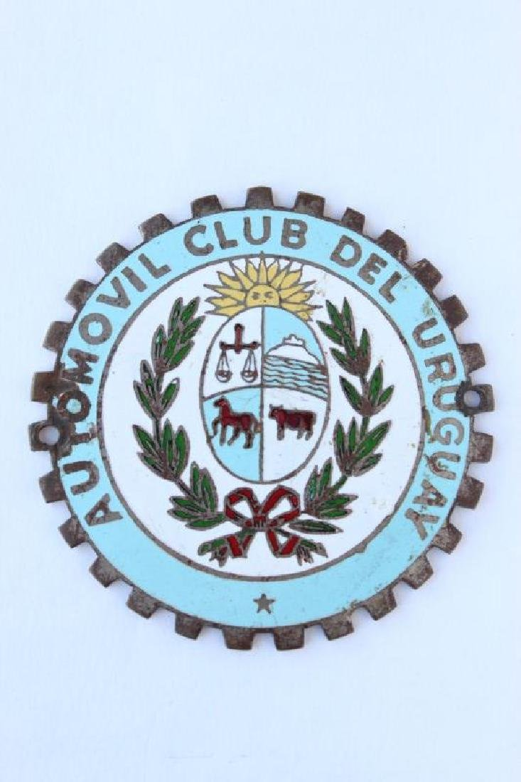 Vintage Car Badge For Automovil Club Del Uruguay