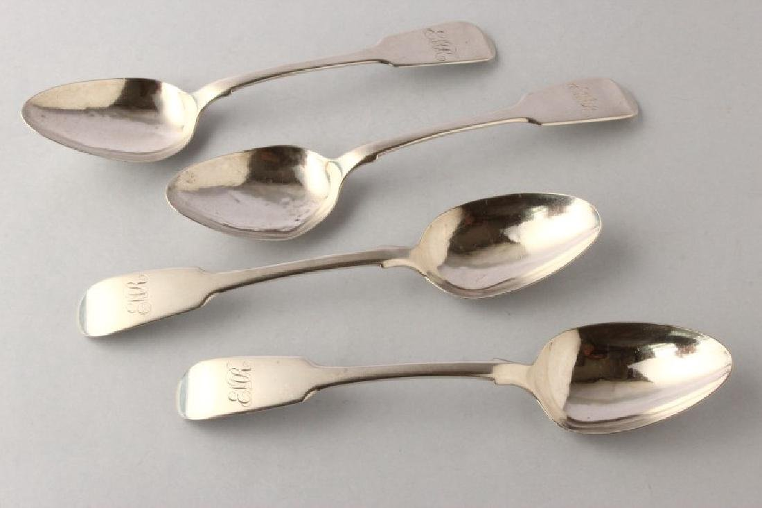 Four William IV Sterling Silver Dessert Spoons,