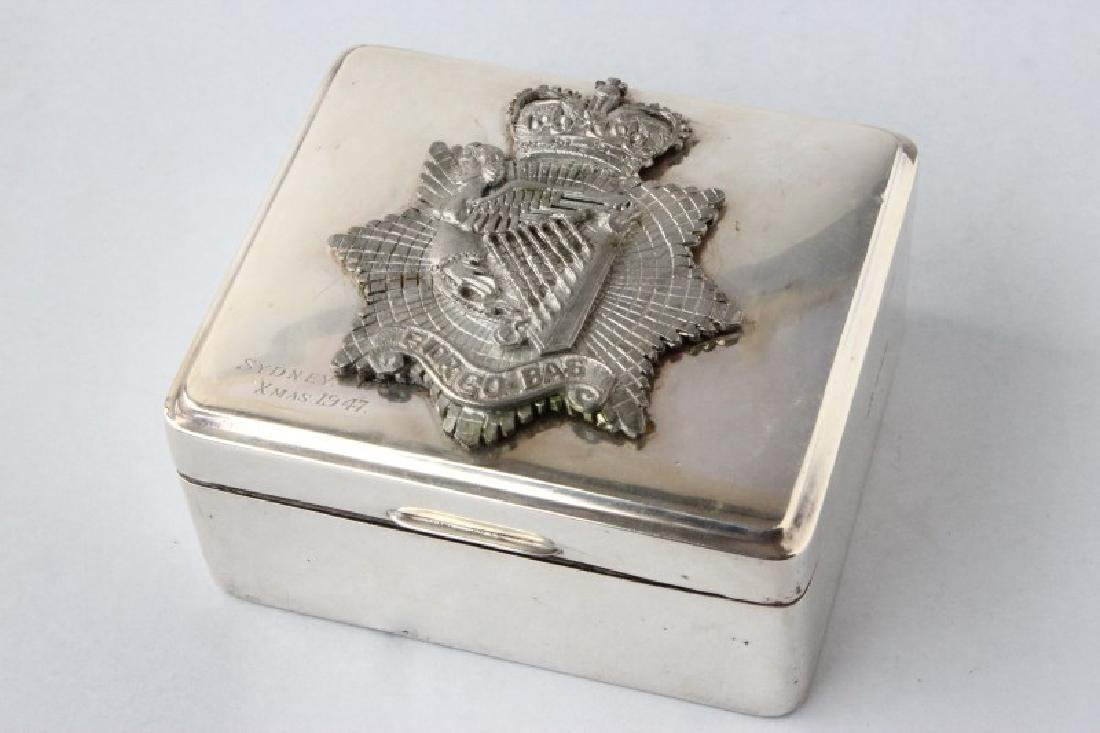 English Sterling Silver Box and Cover,