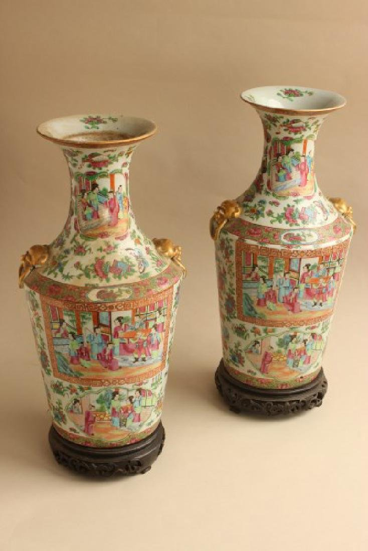 Good Pair of 19th Century Cantonese Famille Rose