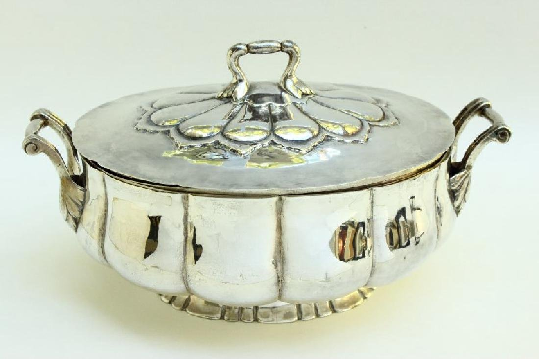 Magnificent Sterling Silver Twin Handled Tureen