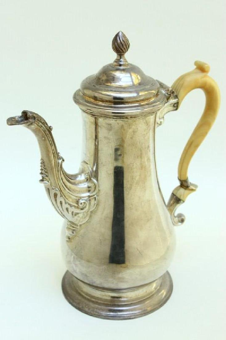 Lovely Victorian Sterling Silver Coffee Pot,