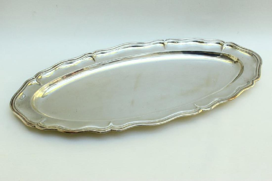 Good Italian Sterling Silver Oval Salver,