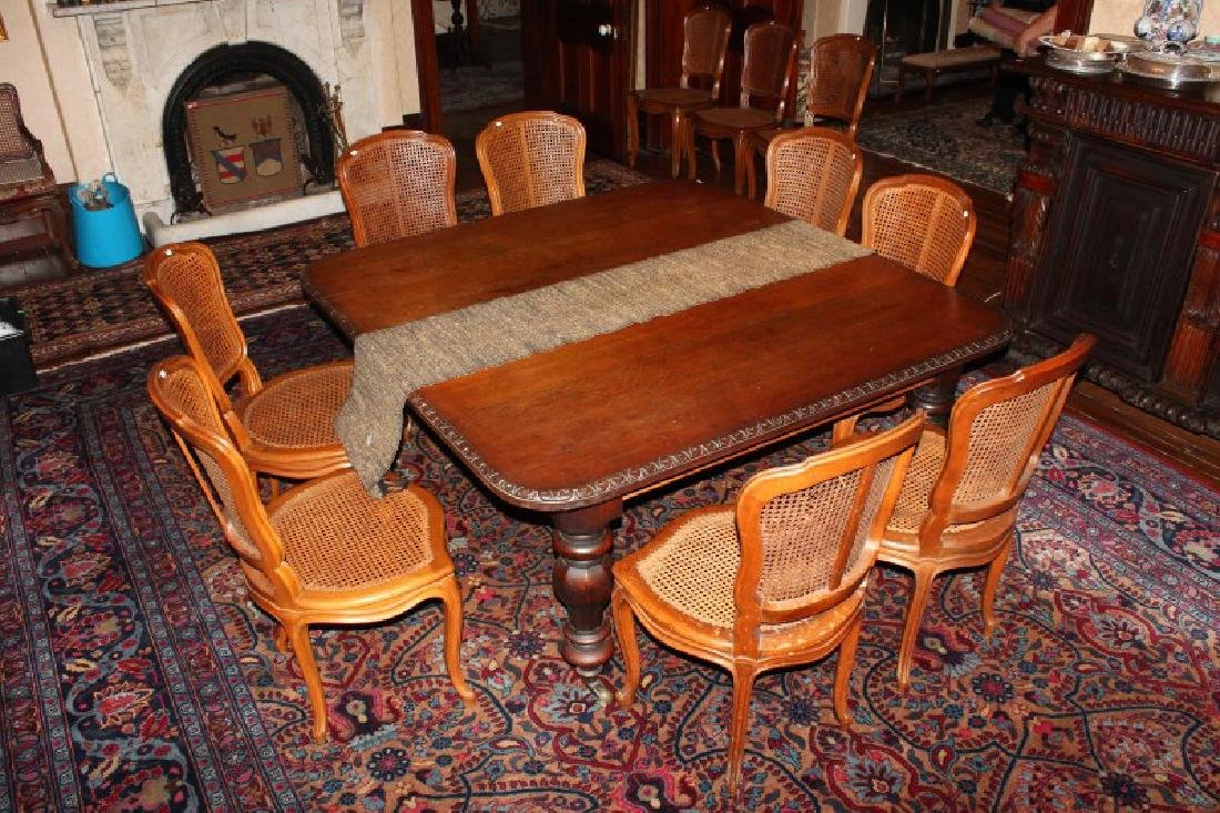 Late Victorian Oak Extension Dining Table,