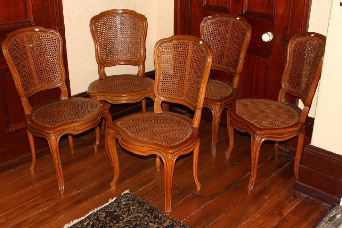 Set of Twelve French Walnut Louis XV Style Dining