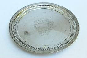 Late Victorian Sterling Silver Circular Salver,