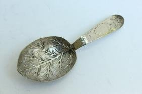 George III Sterling Silver Caddy Spoon,