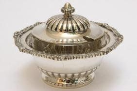 American Sterling Silver Butter Dish and Cover,