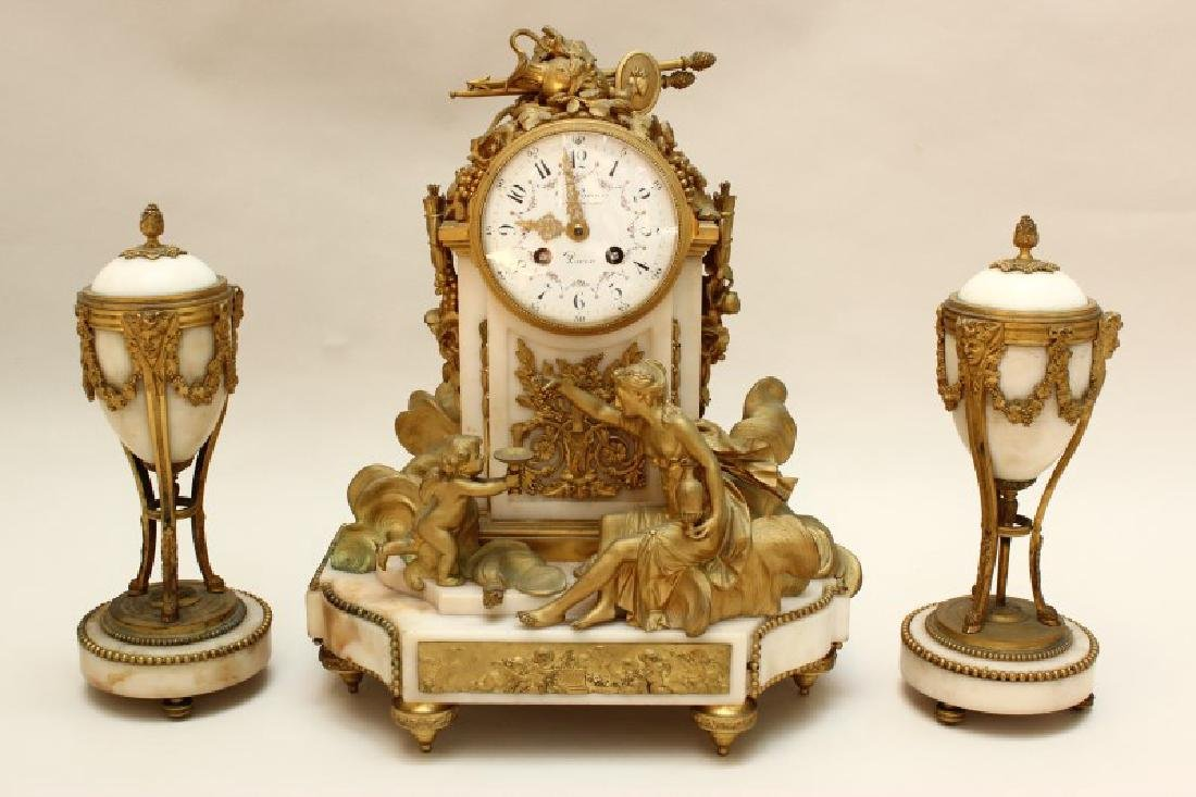 19th Century French Marble and Ormolu