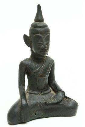 Khmer Bronze Buddha,