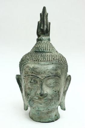 Thai Bronze Head,