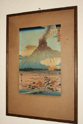 Japanese Meiji Wood Block Print,