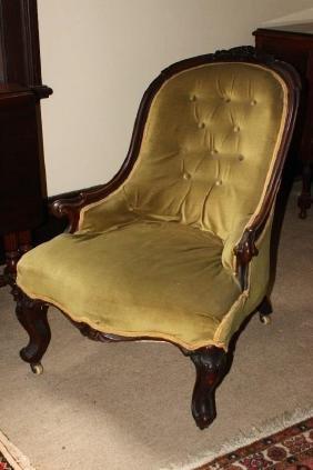Victorian Mahogany Tub Nursing Chair,