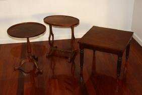 Three Various Occasional Tables,