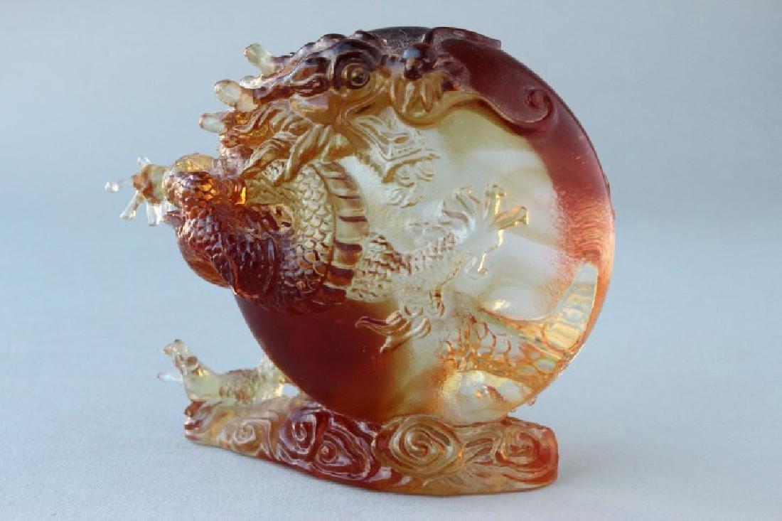 Chinese Liuli Gongfang Art Glass Paper Weight,