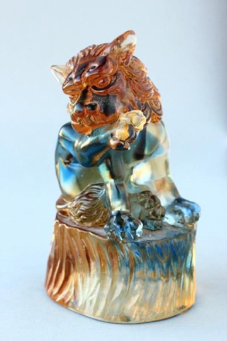 Chinese Tittot Art Glass Figure,