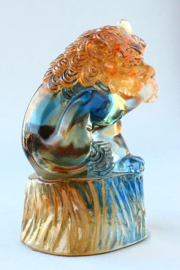 Chinese Tittot Art Glass Figure, - 3