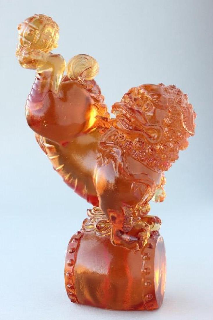Chinese Art Glass Figure,