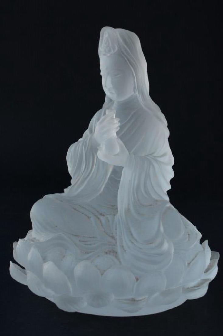 Chinese Liuli Gongfang Art Glass Figure,