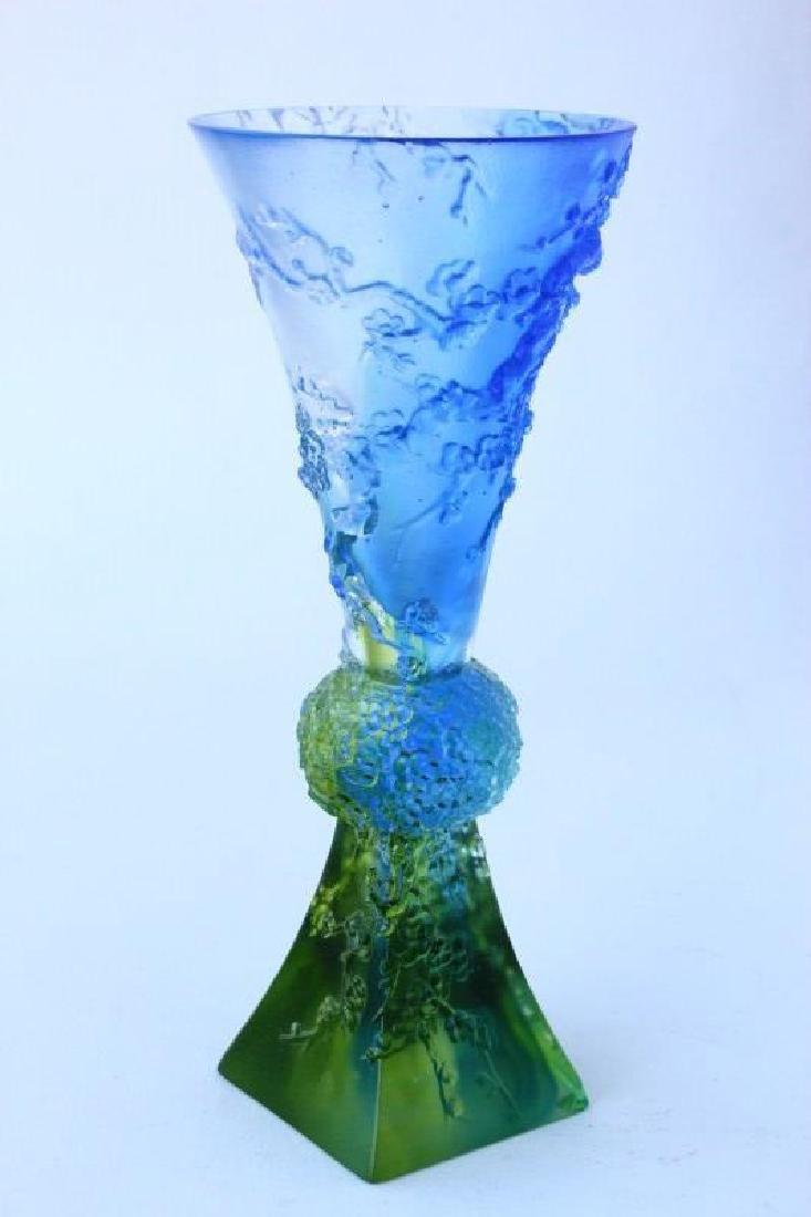 Chinese Tittot Art Glass Vase,