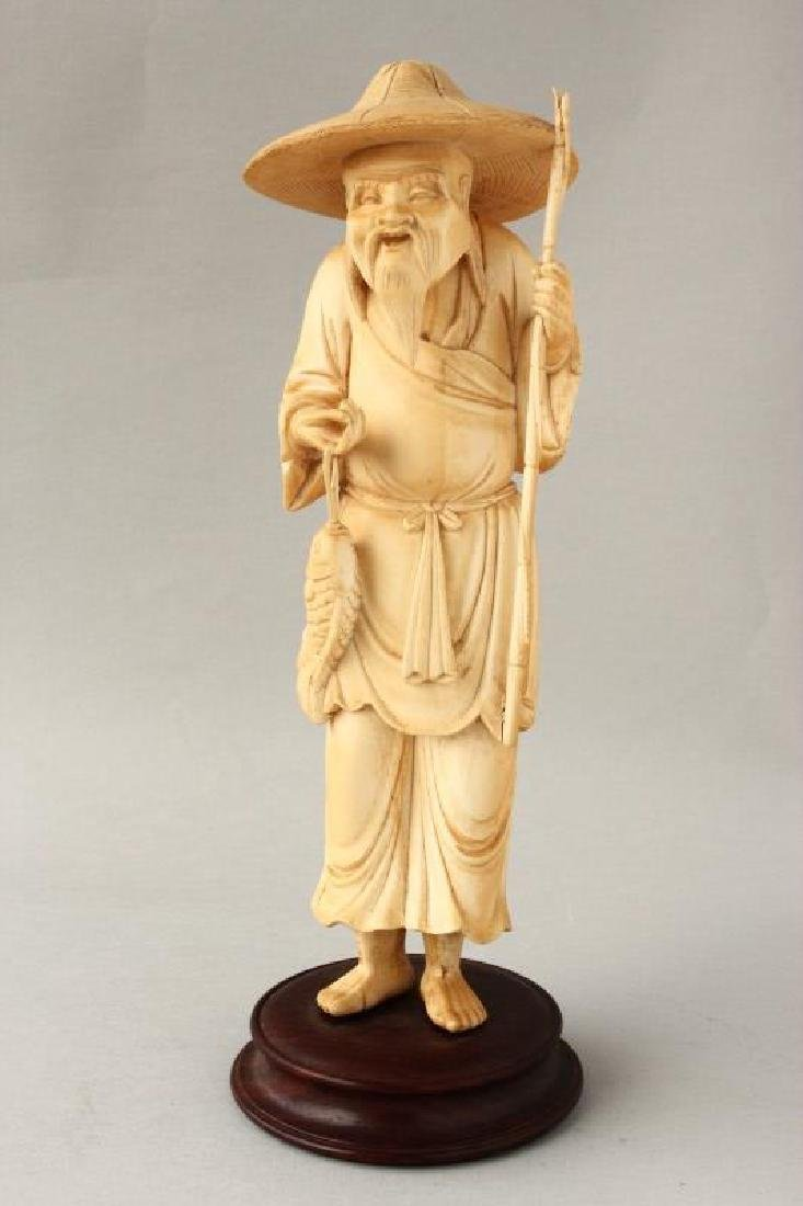 Chinese Figure of Fisherman,