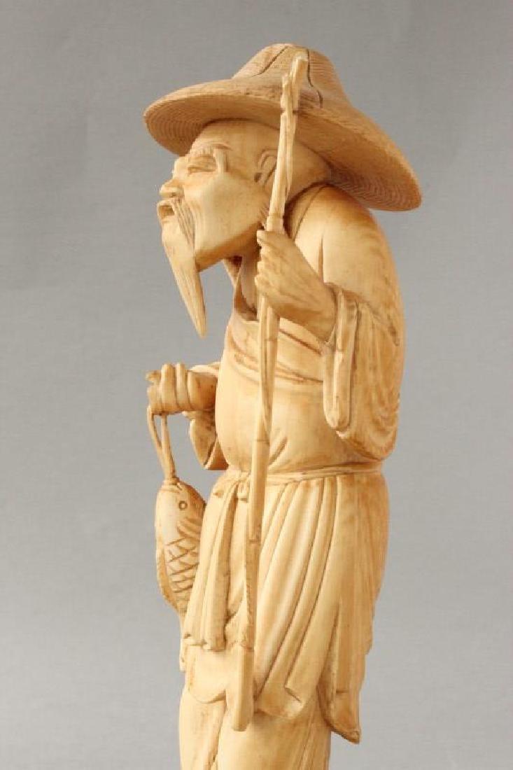 Chinese Figure of Fisherman, - 3
