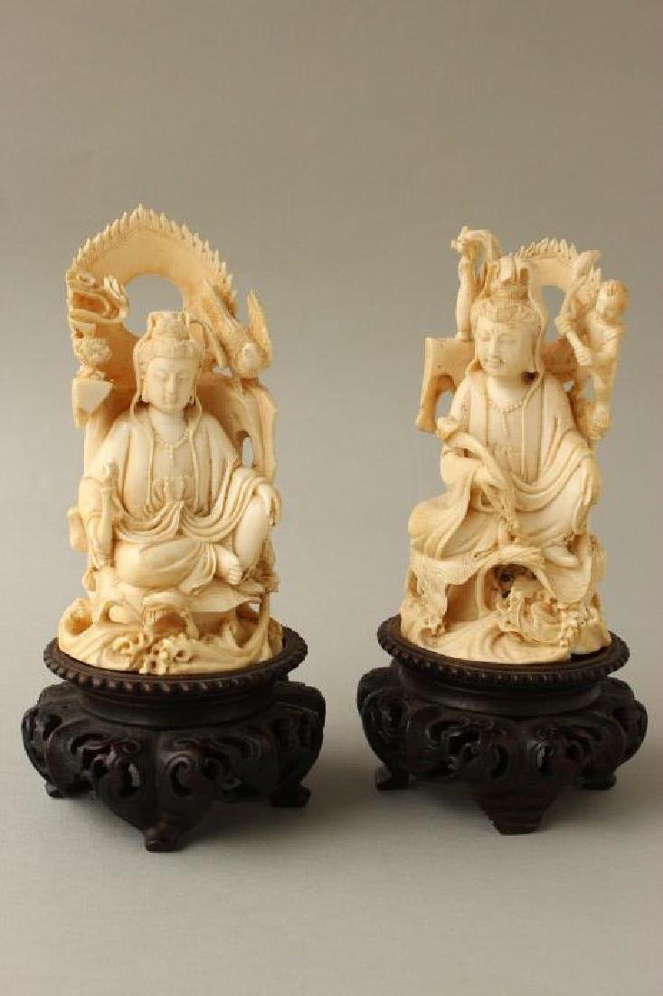 Two Chinese Late Qing Dynasty Kwan Yins,