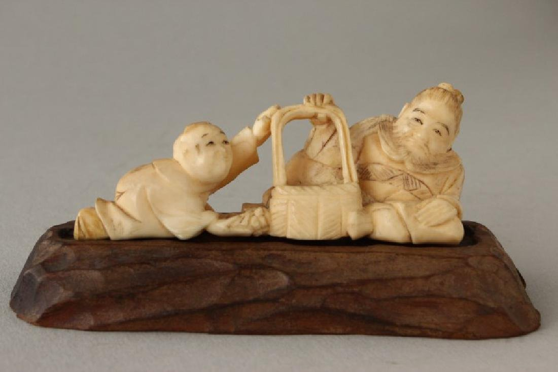 Japanese Meiji Period Figure Group,