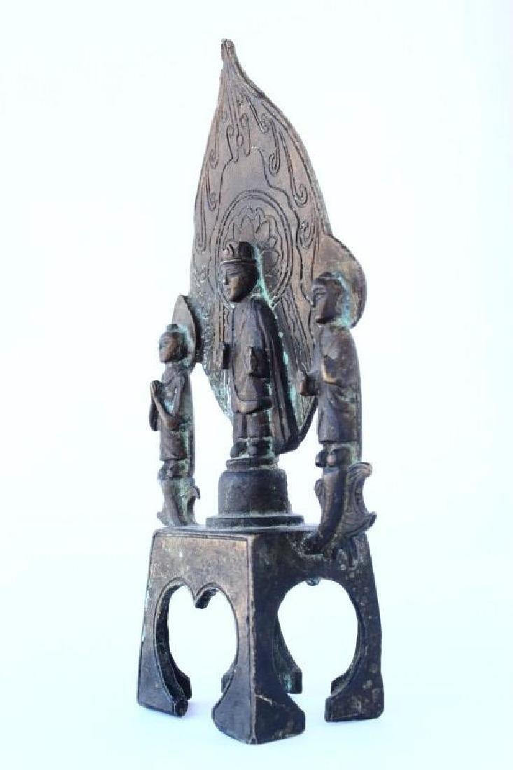 Chinese Cast Buddha and Attendants, - 2