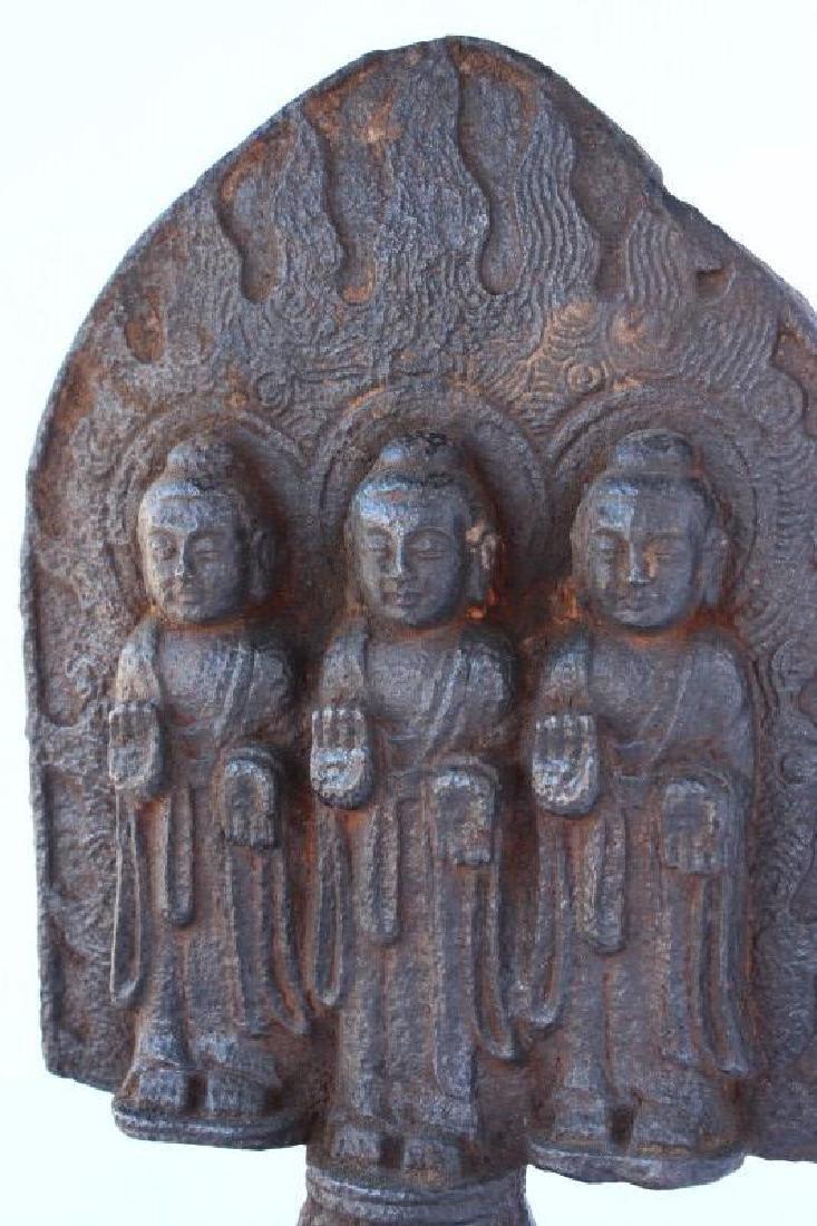 Chinese Cast Buddha Figure Group, - 2