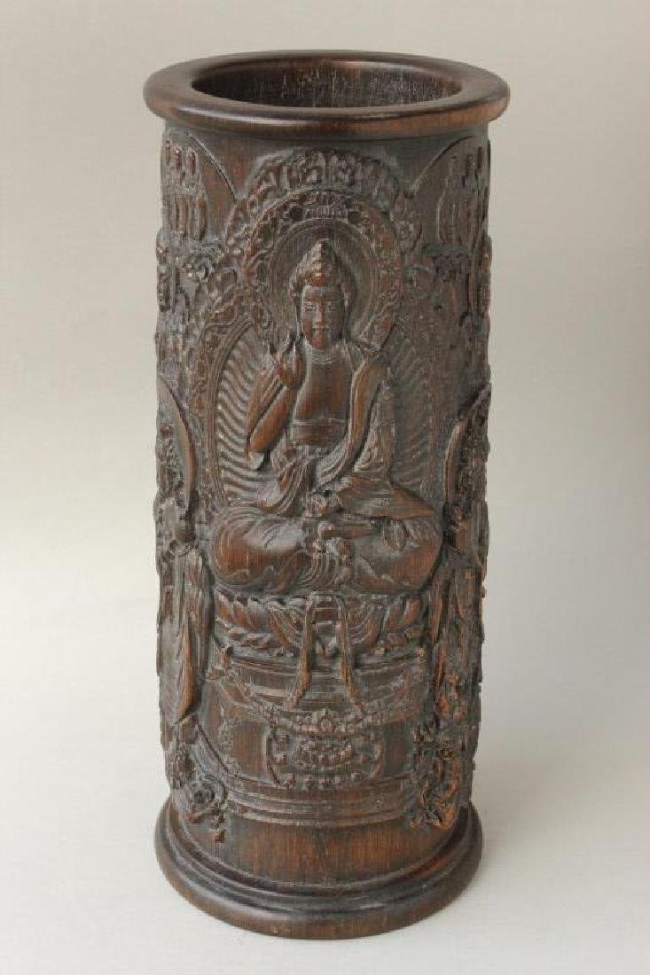 Chinese Carved Brush Pot,