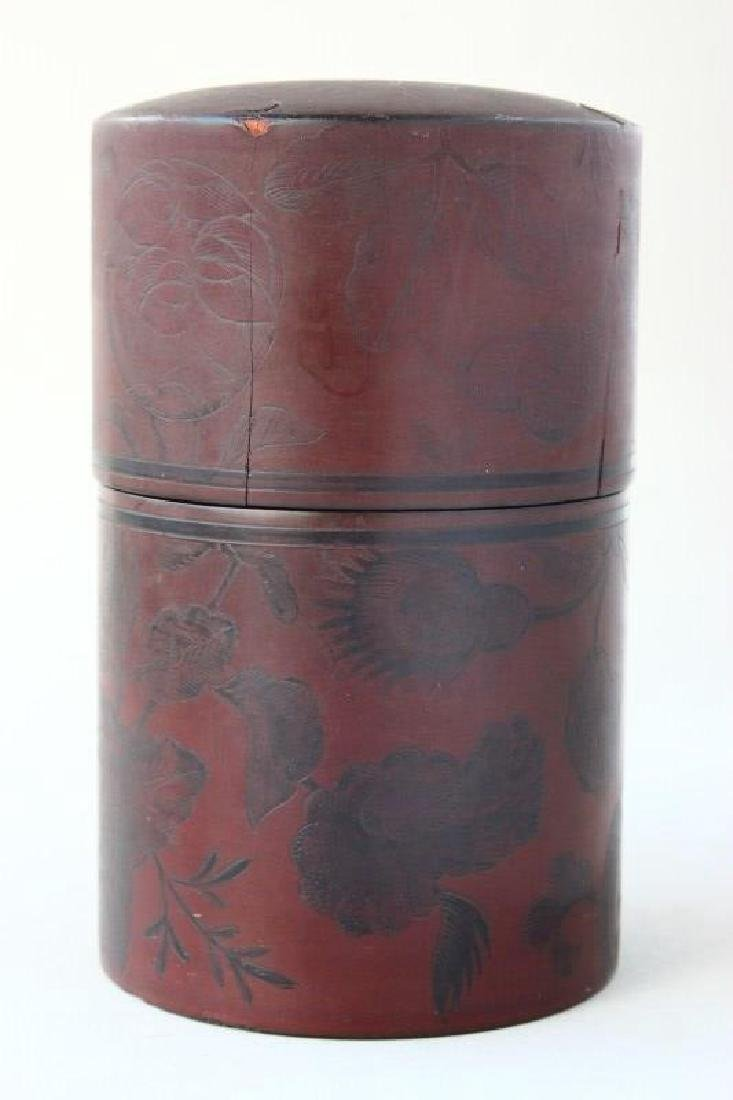 Japanese Lacquered Tea Caddy, - 2