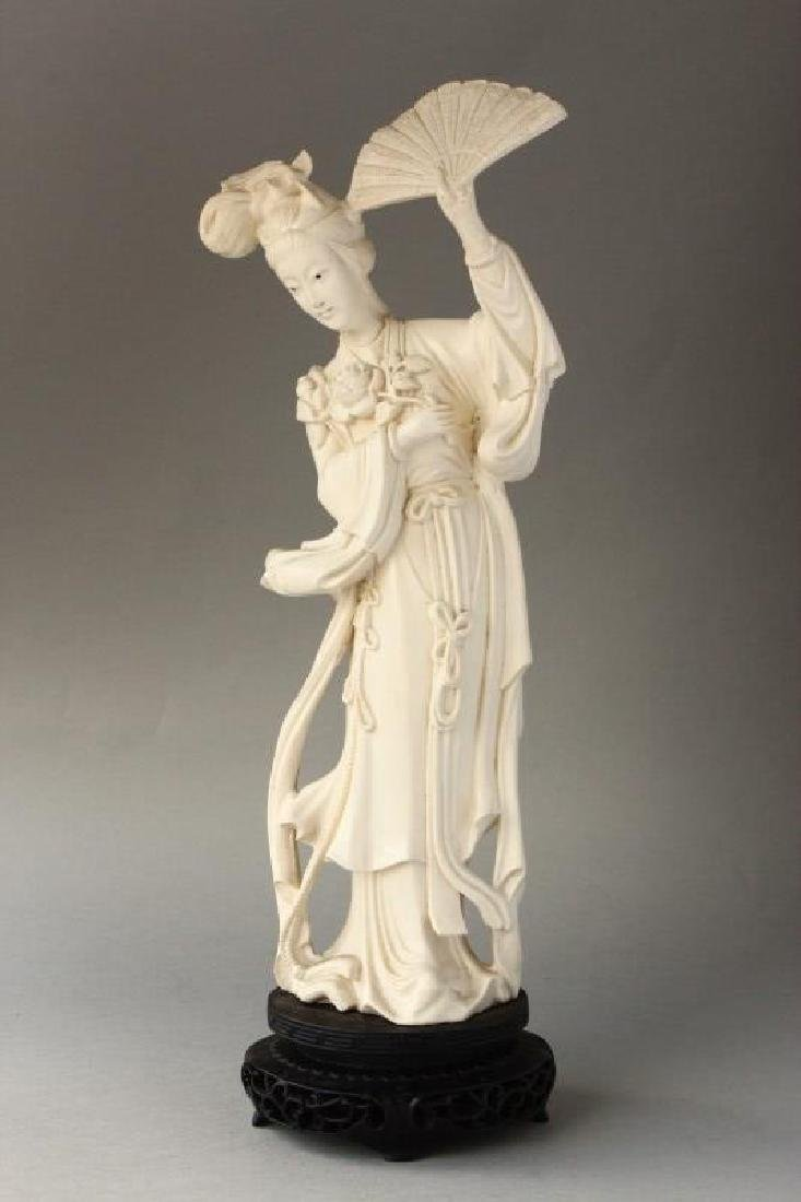 Japanese Carved Figure of Kwan Yin,