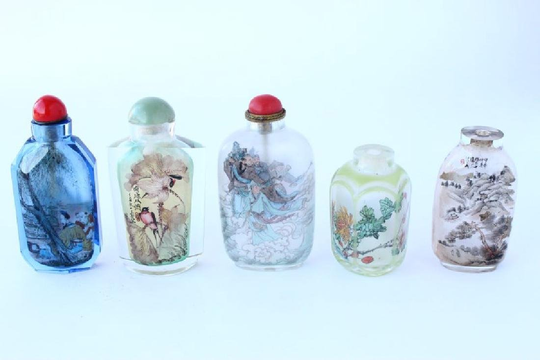 Five Chinese Inside Painted Snuff Bottles and
