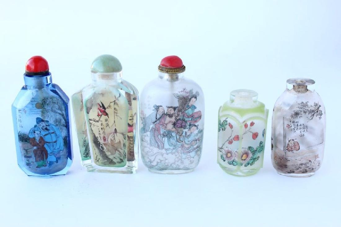 Five Chinese Inside Painted Snuff Bottles and - 2