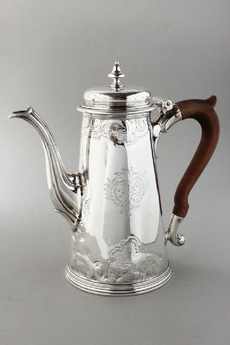 Good George II Sterling Silver Coffee Pot,