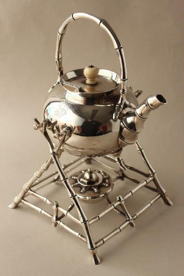 Wonderful Edwardian Sterling Silver Hot Water Pot,