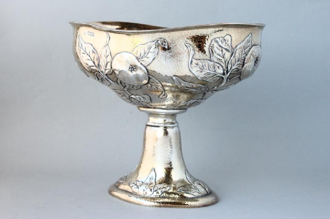 Rare Art Nouveau Silver Pedestal Bowl by Gilbert