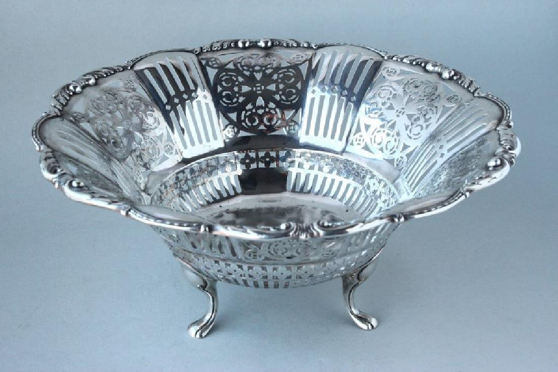 German 800 Silver Pierced Basket,