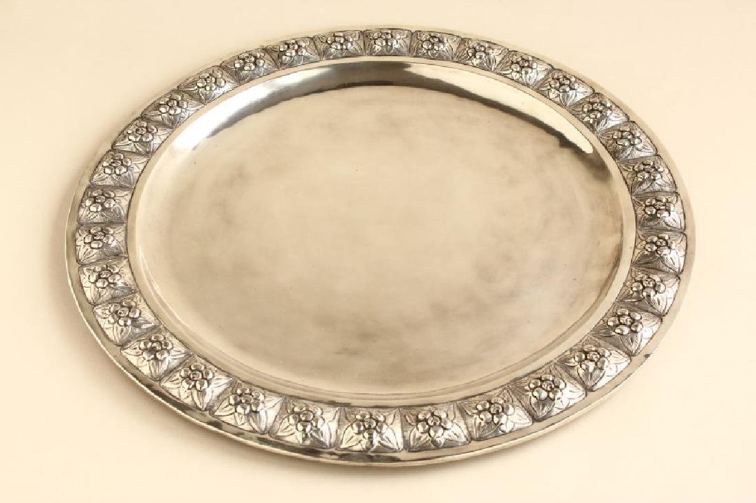Large Mexican Sterling Silver Salver,