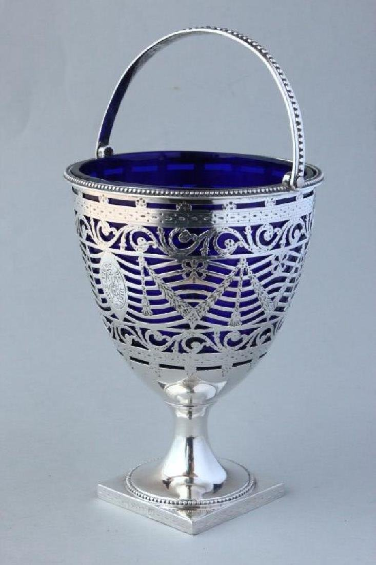 George III Sterling Silver Sugar Basket,
