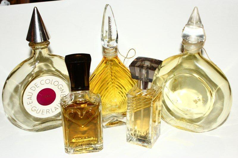 Five Various Guerlain Factice Perfume Bottles,