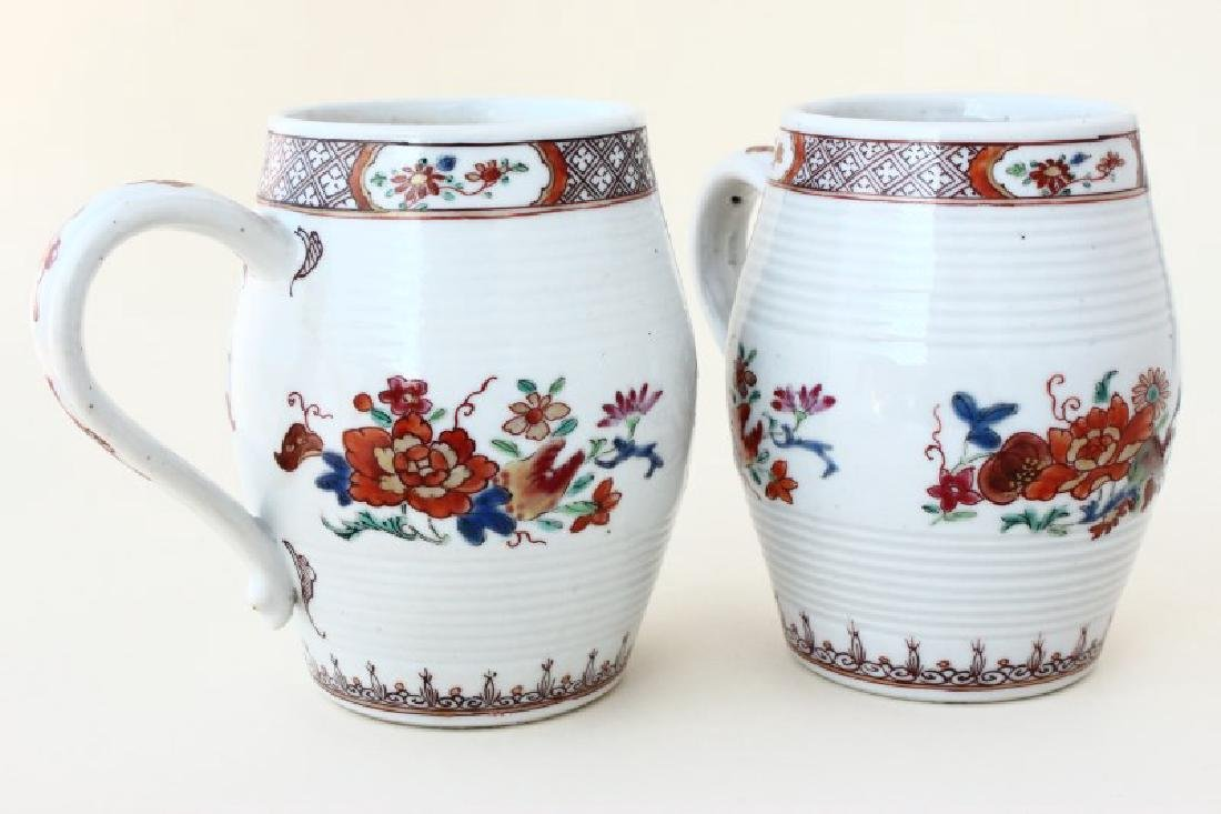Pair of Chinese Qianlong Dynasty Export Tankards,