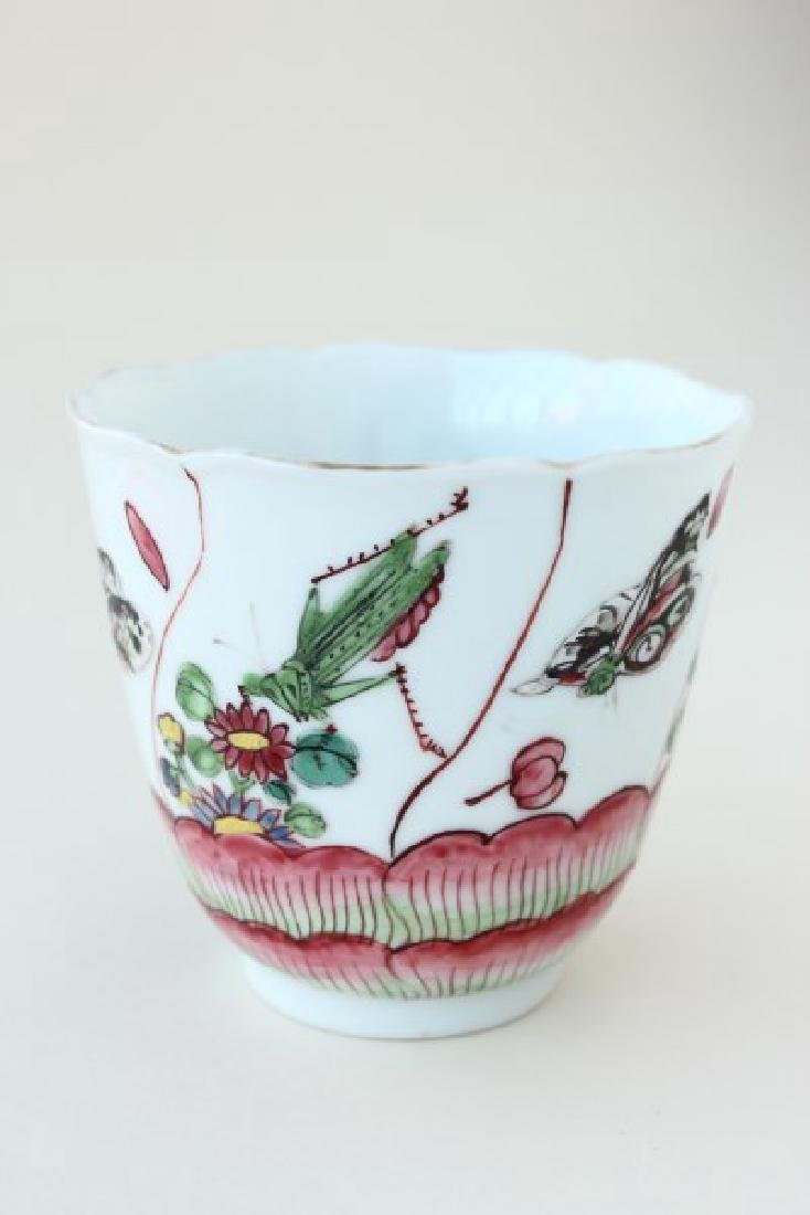 Chinese Qinalong Dynasty Porcelain Tea Bowl,