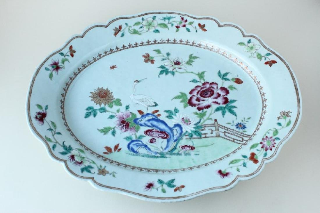 Large Chinese Qianlong Period Export Platter,