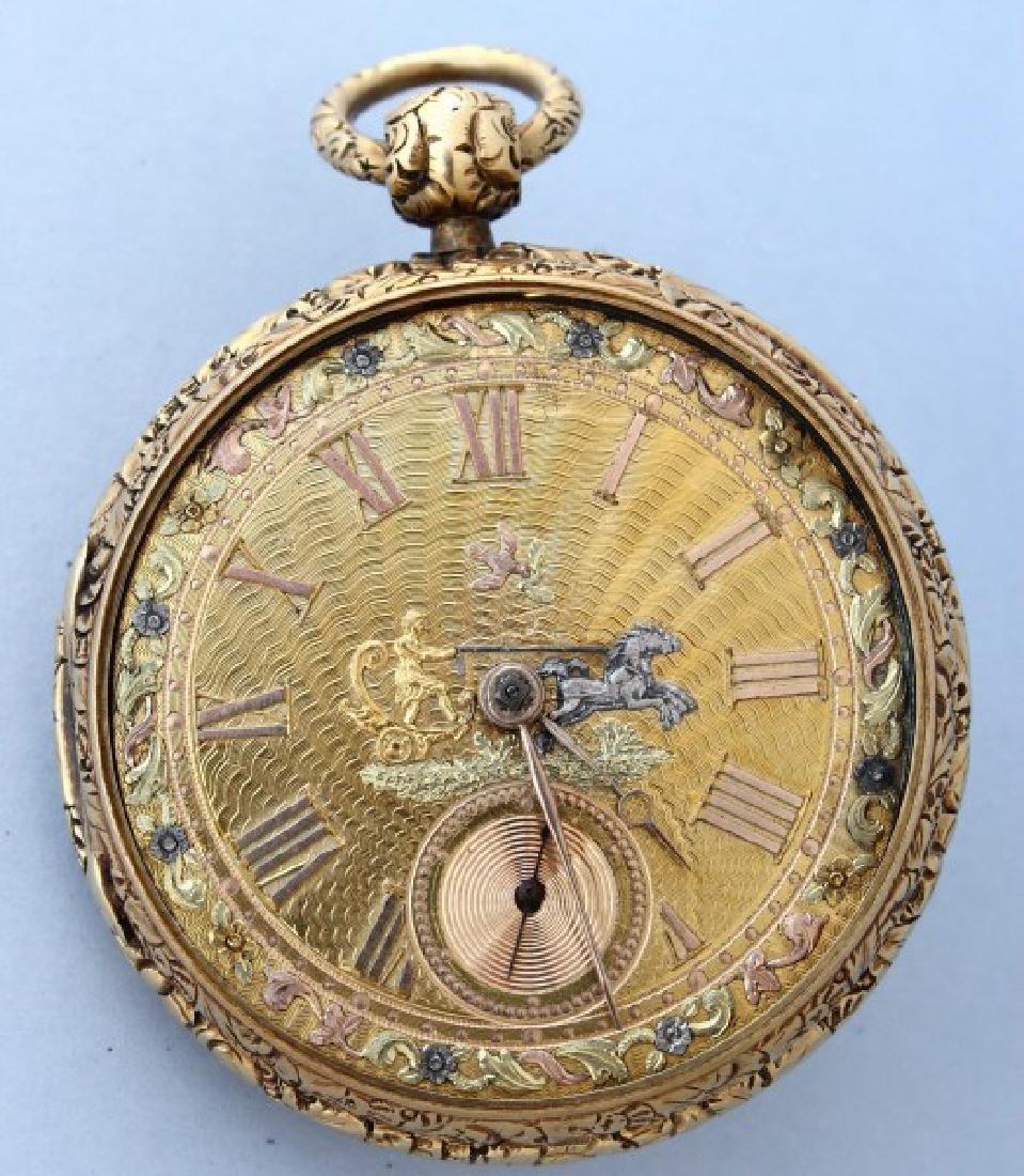 Stunning 19th Century 18ct Gold Pocket Watch,