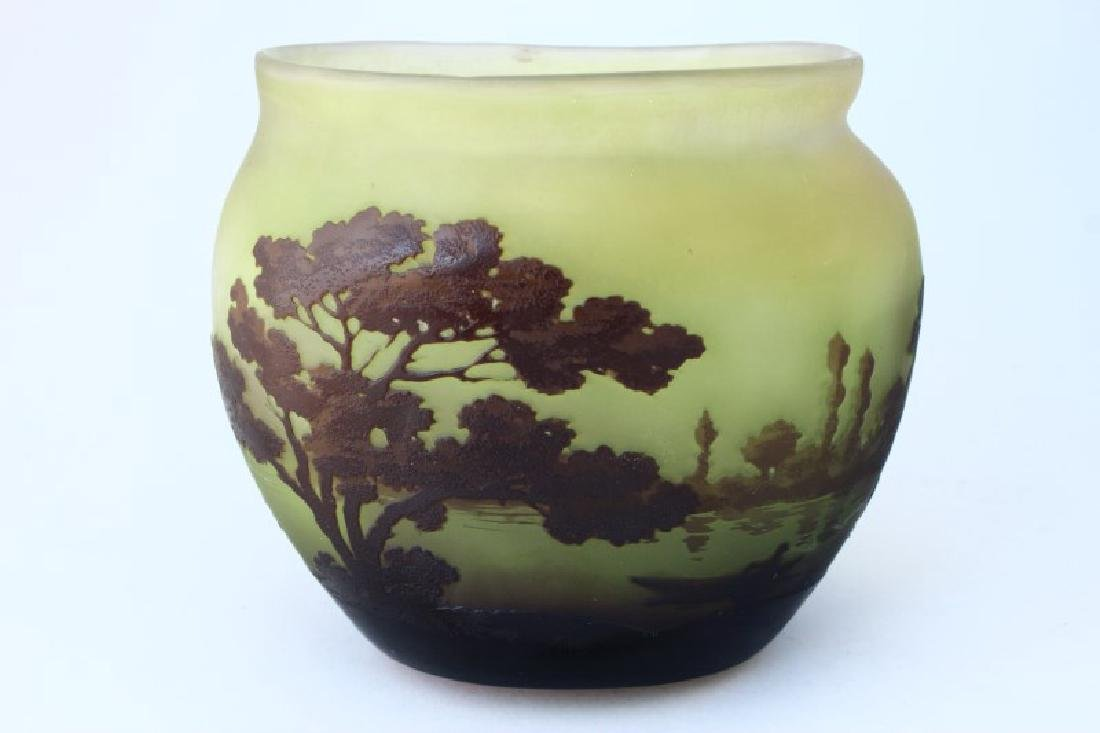 Lovely French Galle Cameo Glass Vase,