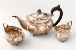 Edwardian Sterling Silver Three Piece Tea set