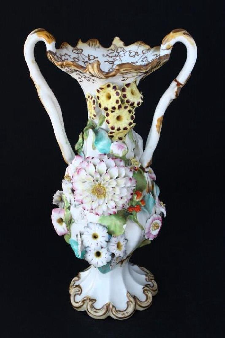 Coalbrookdale Porcelain Twin Handled Vase,