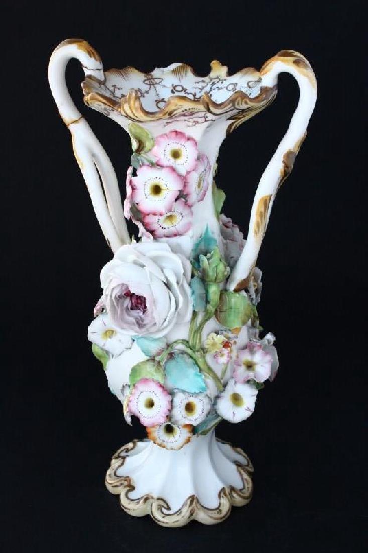 Coalbrookdale Porcelain Twin Handled Vase, - 2